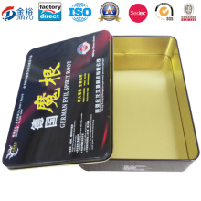 Free Sample Hot Sale Metal Case for Sex Tablet Container