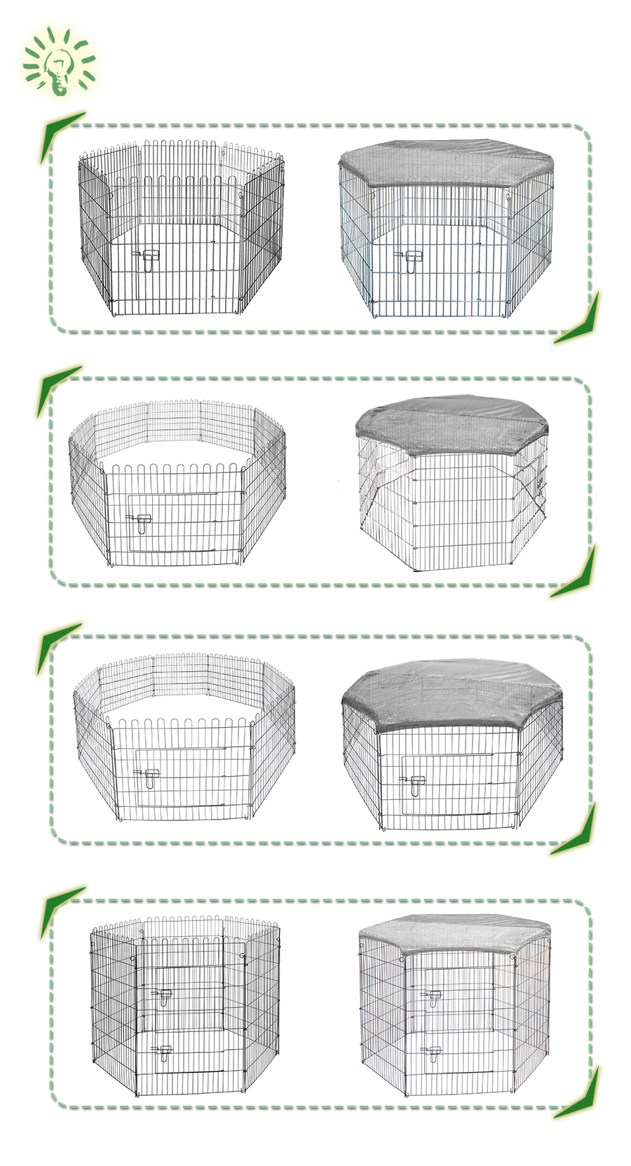 galvanized dog playpen