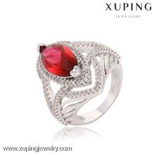 13650 Rhodium cor 2016 grande pedra mais recente anel de casamento diamante elegante anel projeta