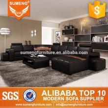 2014 современные последние диван дизайн гостиной подлинной натуральной кожаный диван и цене