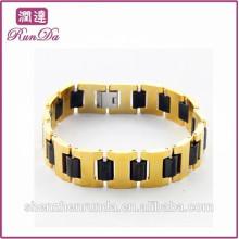 Alibaba venda quente mais recente aço inoxidável pulseira