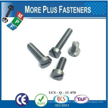 Made in Taiwan Cheese Head Slotted Machine Screw Micro Slotted Head Machine Screw Nickle Plated Brass Cheese Head Machine Screw