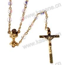 Ожерелье из хрусталя различной формы, ожерелье из розария