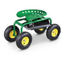Carrinho de jardim, carrinho de ferramentas com quatro rodas