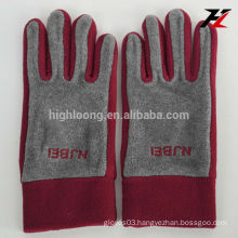 High quality red fleece gloves with cheap price