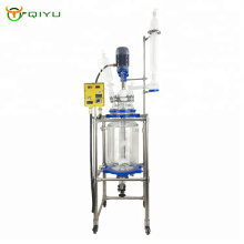 1L 5L 10L 50L 100L 200L Industrial Jacketed Double  Wall Glass Reactor with condenser China