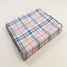 Jeté de voyage pour couverture en molleton micro-peluche imprimé grille
