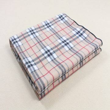 Grid Print Micro Plüsch Fleece Decke Trip Throw