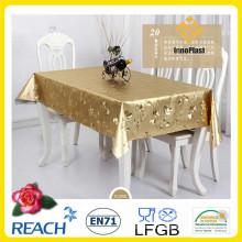 Золотые и тиснения ПВХ скатерть наложения свадьба/домашнего декора