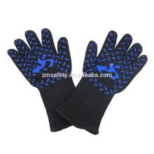 Isolierte Topf-Halter-Grill-Handschuhe der Nahrungsmittelgrad-hohen Temperatur, Hitzeschützende Backen Bbq-Handschuhe mit Zertifikat EN407
