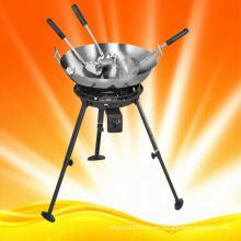 Kampagne Kochen Gasbrenner mit Woks und Zubehör