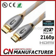 Novo Premium 1M 3M 5M High Speed HDMI 1.4 cabo para 1080P HDTV LEDTV Monitor Projector