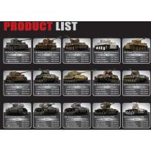 Tanques de modelo licenciado de energia elétrica de 1/24 de escala