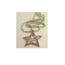 Accesorios de moda Forma de estrella Cristal colgante de metal