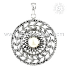 Eye-Catching Pearl Gemstone Jewelry Pendentif Sterling Silver Jewelry Exporter