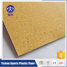 Plancher en PVC de revêtement de PVC de tapisserie d'ameublement de feuille de plastique de pièce de monnaie de plancher de PVC non tissé et feutre