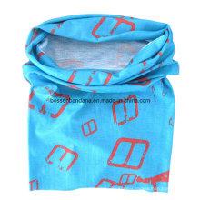 OEM Produce Customized Logo Printed Polyester Microfiber UV Protection Tubular Headscarf