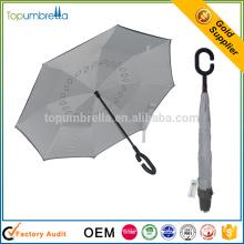 2017 Алибаба рекомендуем с ручкой вверх дном двойной слой перевернутый зонтик