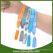 Disposable festival events cheap customized fabric wristband