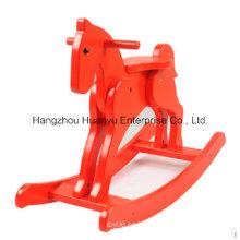 Fábrica Rupply caballo mecedora de madera-caballero rojo rockero