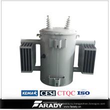Масло Погрузило трансформатор энергии 100kva один однофазный трансформатор