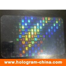 Malote feito sob encomenda da folha da identificação do laser 3D transparente