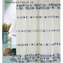 Cortina de ducha de poliéster de tela de diseño de círculo