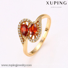 12657 Xuping Jewelry Red Gemstone Ring, Fashion Wholesale Trendy Crystal Engagement Rings