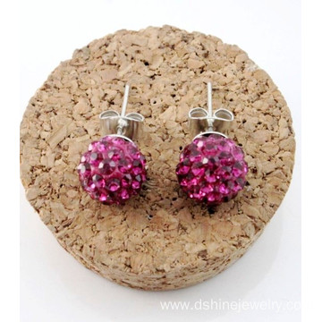 Wholesale Colorful Shamballa Balls Stud Earring For Women