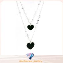 Gute Qualität u. Herz-geformte hängende Schmucksache-925 silberne Halskette (N6766)