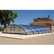 Toit de piscine rétractable en polycarbonate
