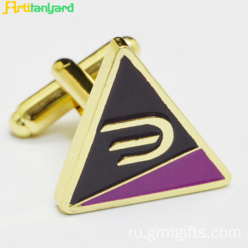 Metal Cufflink With Synthetic Enamel