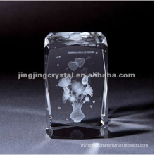 Crystal Facet Edge Cubes for Inner Laser or Engraving with High Quality