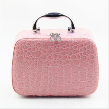 The 2015 New Collection Pink Leather Cosmetic Case (hx-q078)