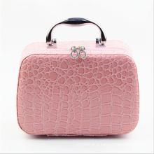 В 2015 Новая коллекция розовый кожаный косметический случай (НХ-q078)