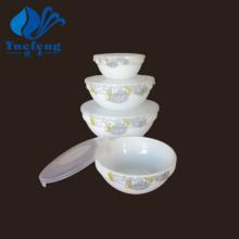 Heat Resistant Opal Glassware-4PCS Stackable Bowl Set