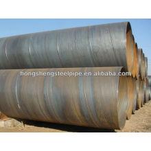 Tubo de acero al carbono soldado en espiral para tubería de gas y petróleo