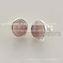Оптовая Gemstone Стерлингового Серебра 925 Безель Серьги Ручной Работы С Натуральным Камнем Драгоценный Камень Безель Серьги Стержня Производитель