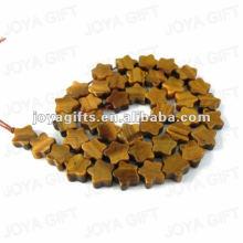 Tigereye em forma de estrela Beads
