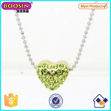 Sparkling Crystal Love Heart Pendant Necklace #Scn004