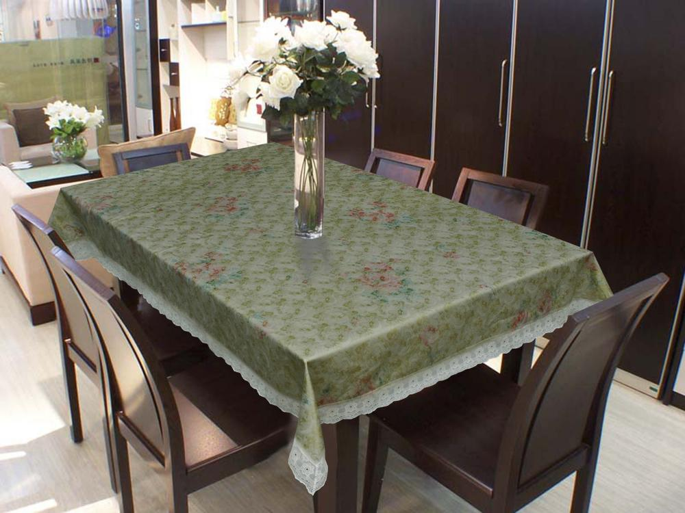Vinyl Table Covers with 2 Inch Lace Edge
