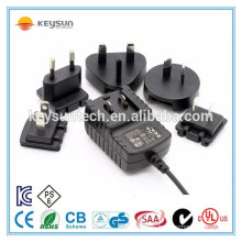 interchangeable plug head adapter 24v 500ma plug dc power supply