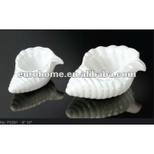 Unique sea shell shape porcelain dishes plates P0391
