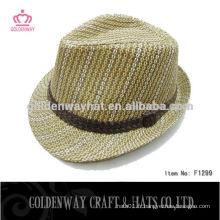 Chapeau Fedora de haute qualité avec ruban personnalisé