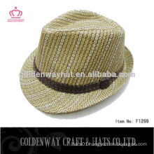 High Quality Fedora hat with Custom Ribbon