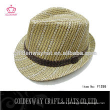 Chapéu Fedora de alta qualidade com fita personalizada