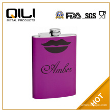 18/8 FDA 8oz Flask with Sexy Lips and Personalization