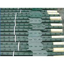 Puesto de acero galvanizado o PVC revestido, poste de Fece, poste de Y, piquete tachonado