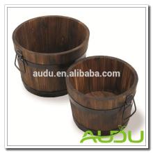 Audu Wood Planter,Wooden Planter,Wood Flower Planter