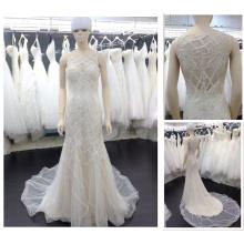 Latest Designs 2016 Sexy Mermaid Sleeveless Floor-length See Through Back Sumemr Beach Bridal Wedding Dresses China16659